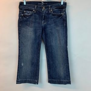 74All  Mankind Dojo Crop Pants Jeans Distressed 28